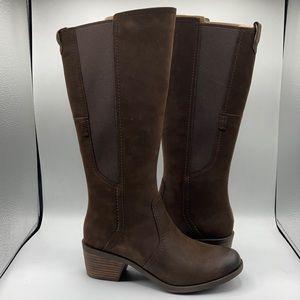 Teva Anaya Chocolate Waterproof Leather Tall Boots